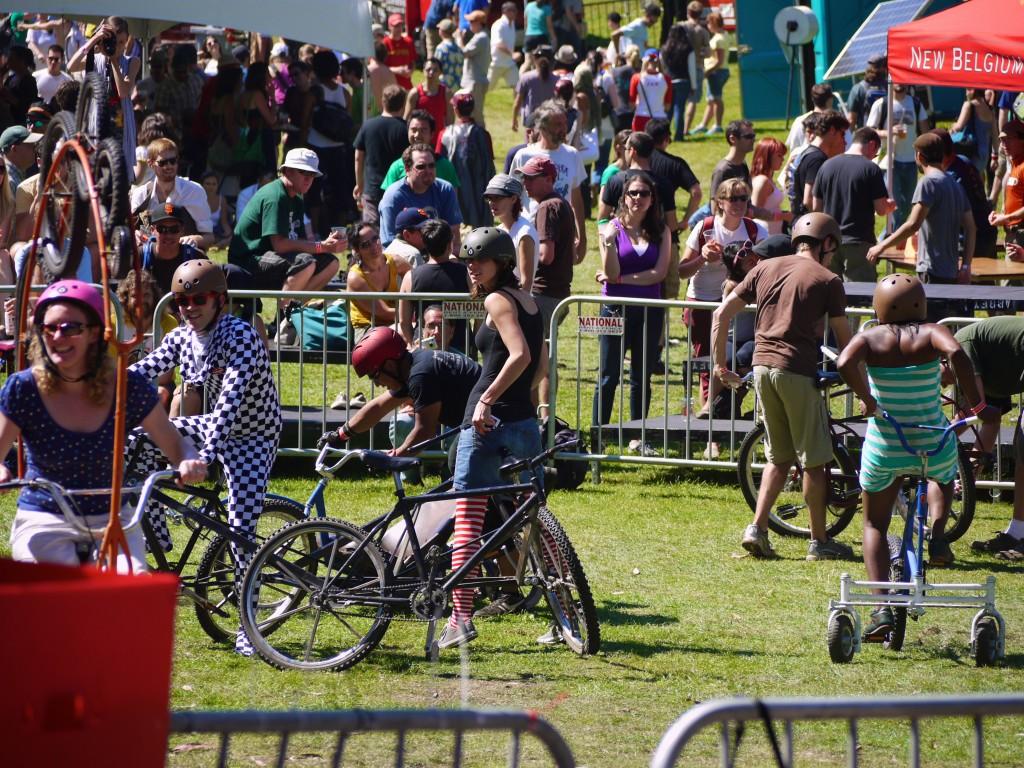 Crazy bikes rodeo.