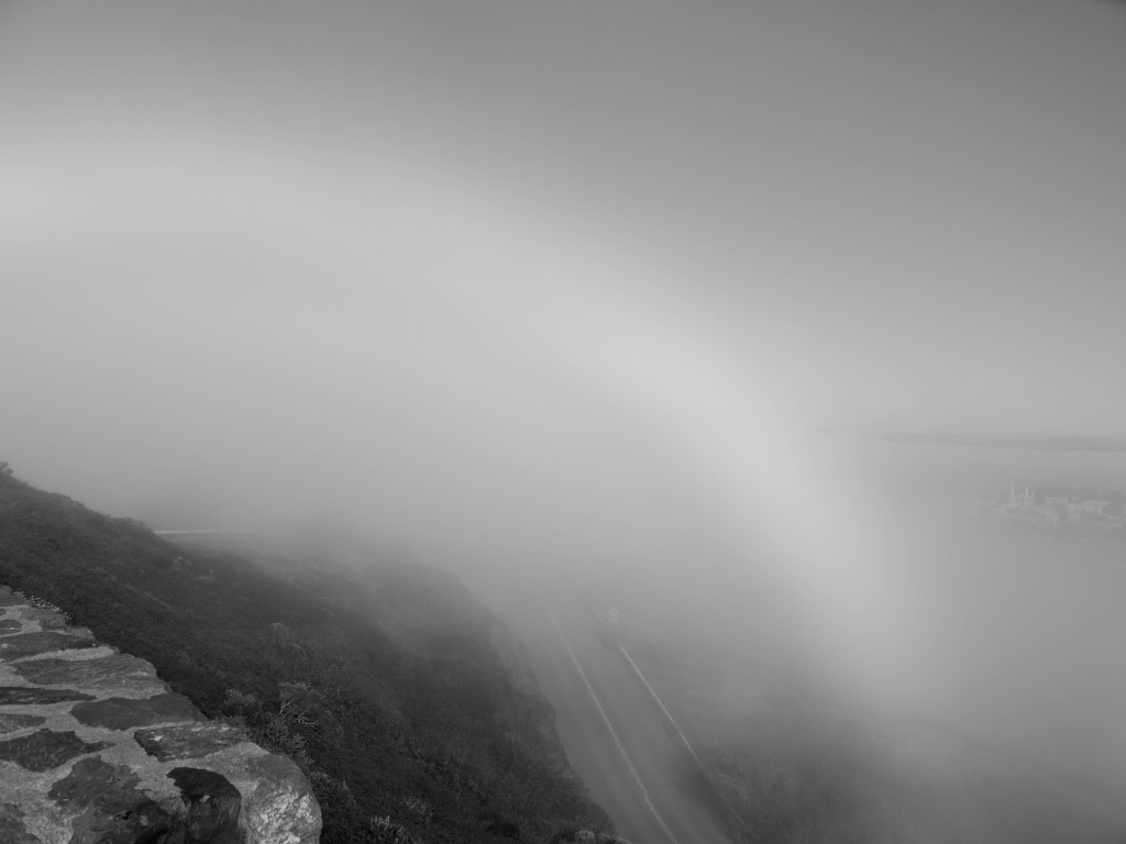 Fog bow on Twin Peaks