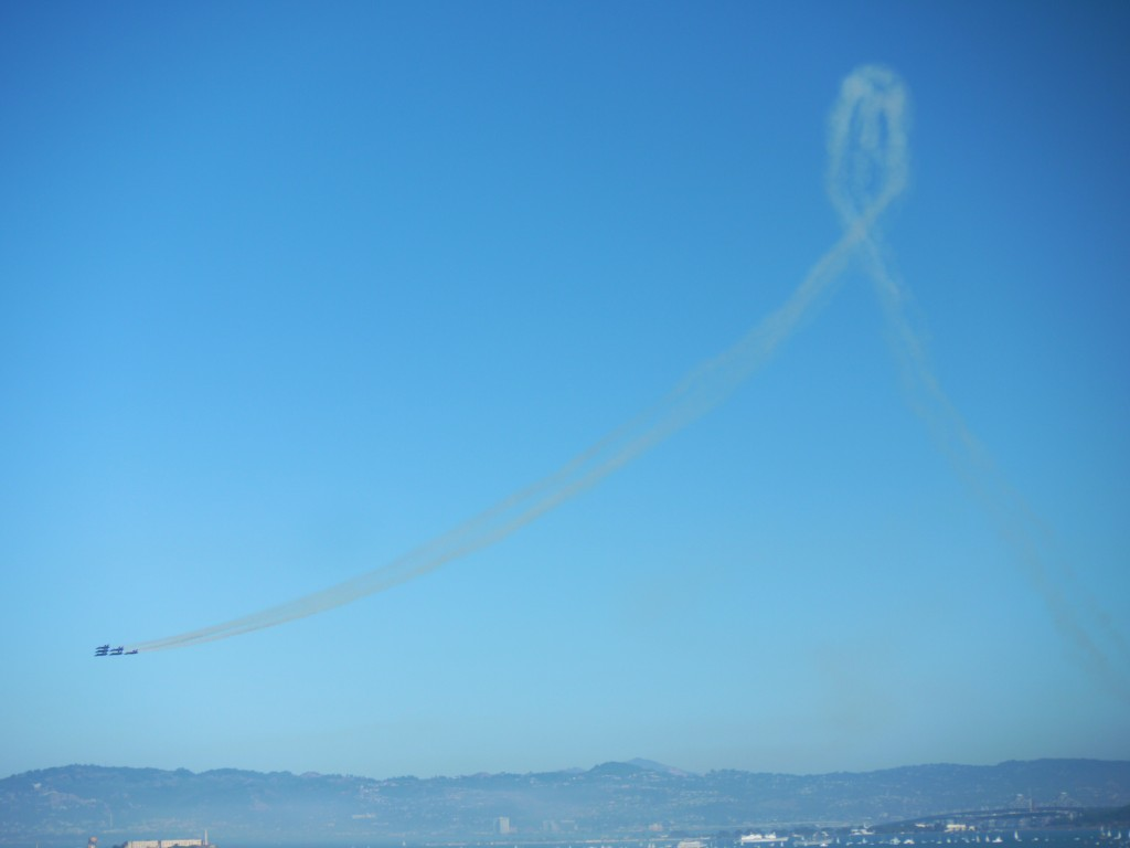 Blue Angels over Alcatraz.