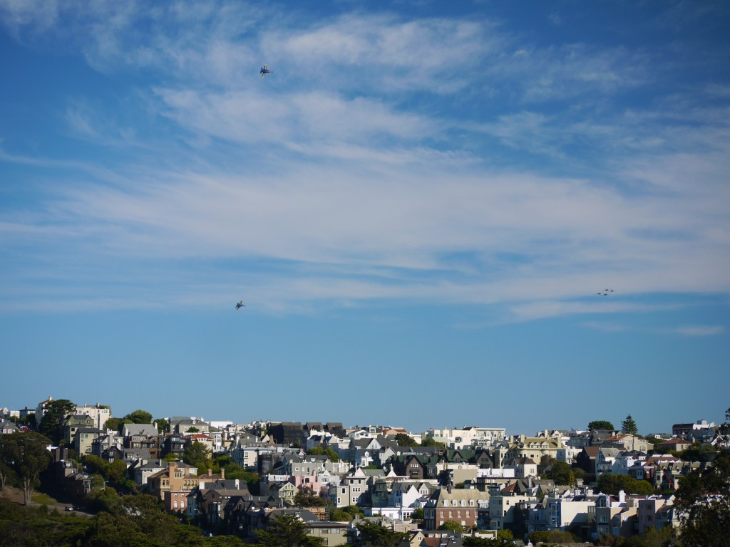 Blue Angels over Presidio Heights.