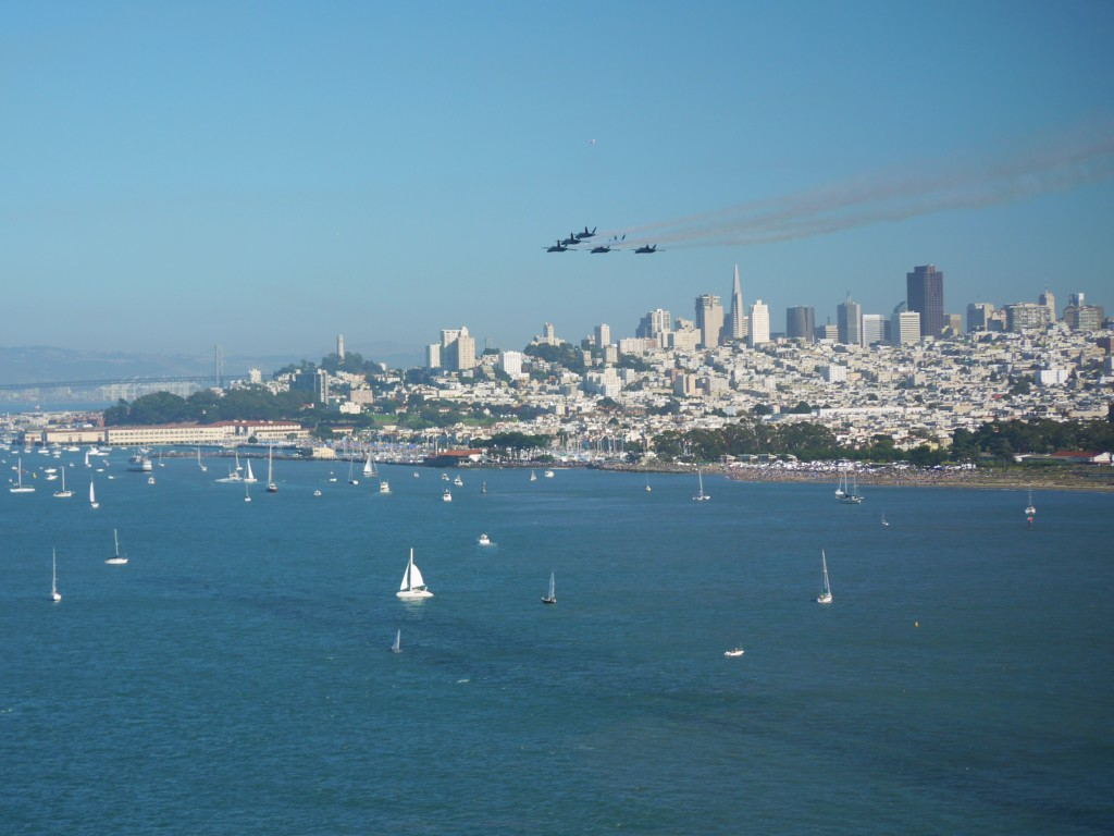 Blue Angels over the San Francisco Bay.